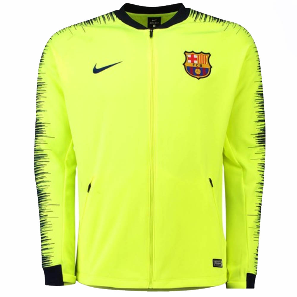 on sale 8be00 a3df9 2018-2019 Barcelona Nike Anthem Jacket (Volt)