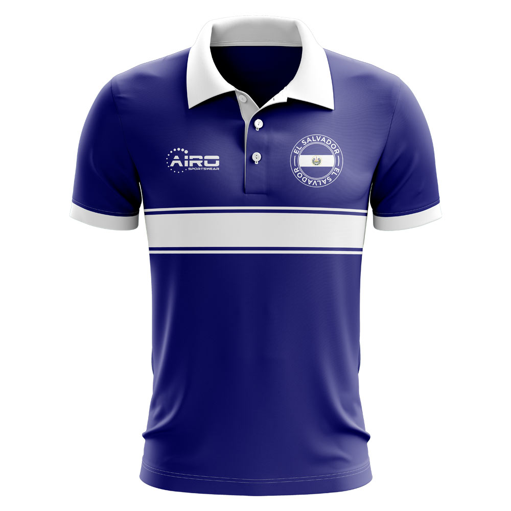 Click to view product details and reviews for El Salvador Concept Stripe Polo Shirt Blue.