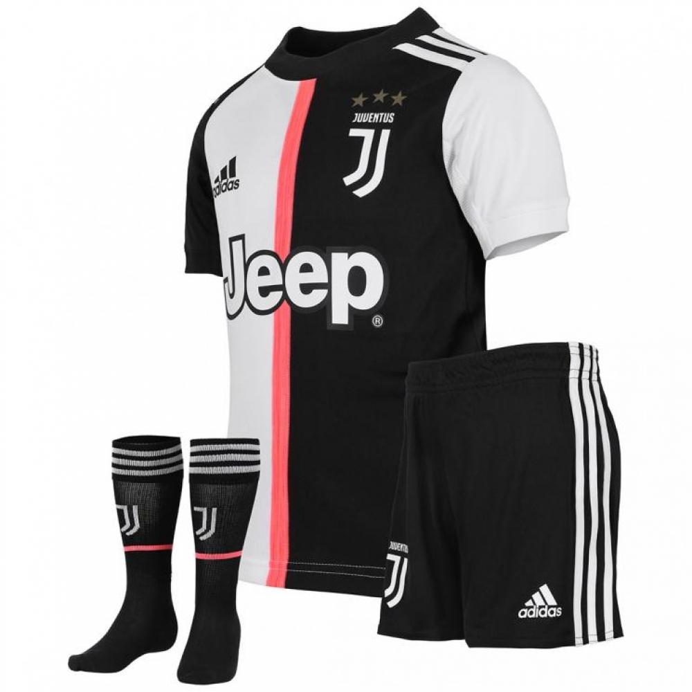 huge discount 6a1fd 7be4a 2019-2020 Juventus Adidas Home Mini Kit