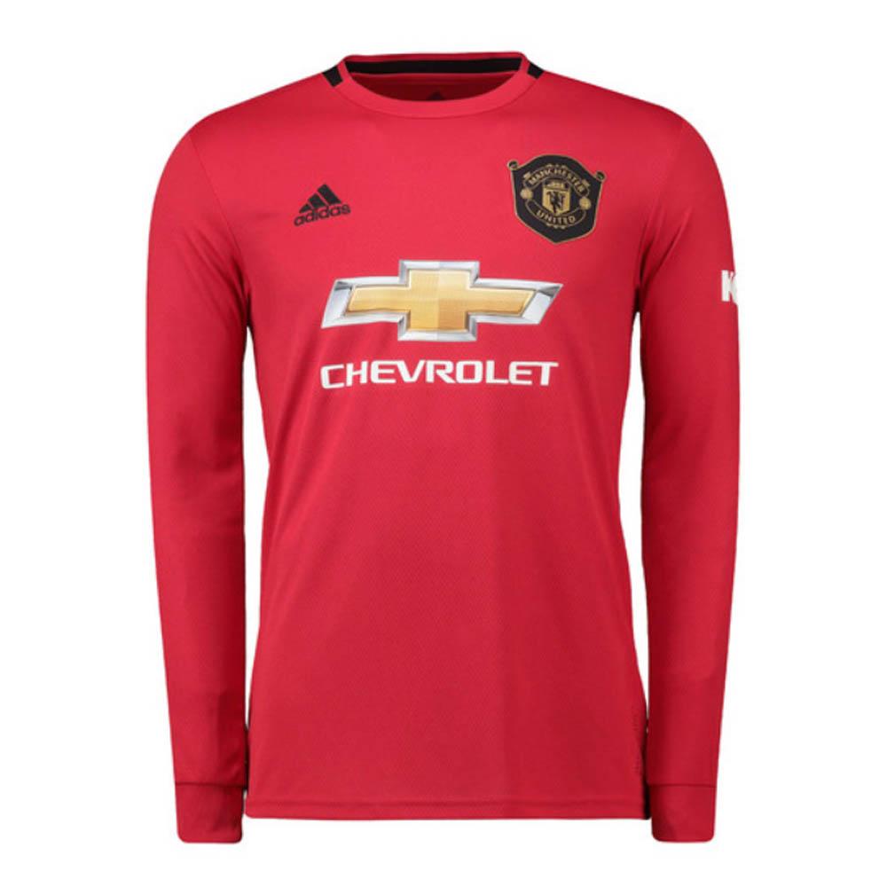 2019 2020 Man Utd Adidas Home Long Sleeve Shirt