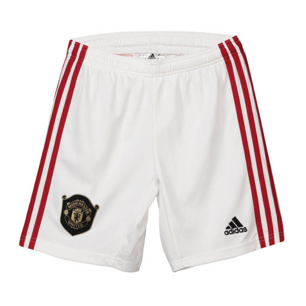 2019-2020 Man Utd Adidas Home Shorts White (Kids)