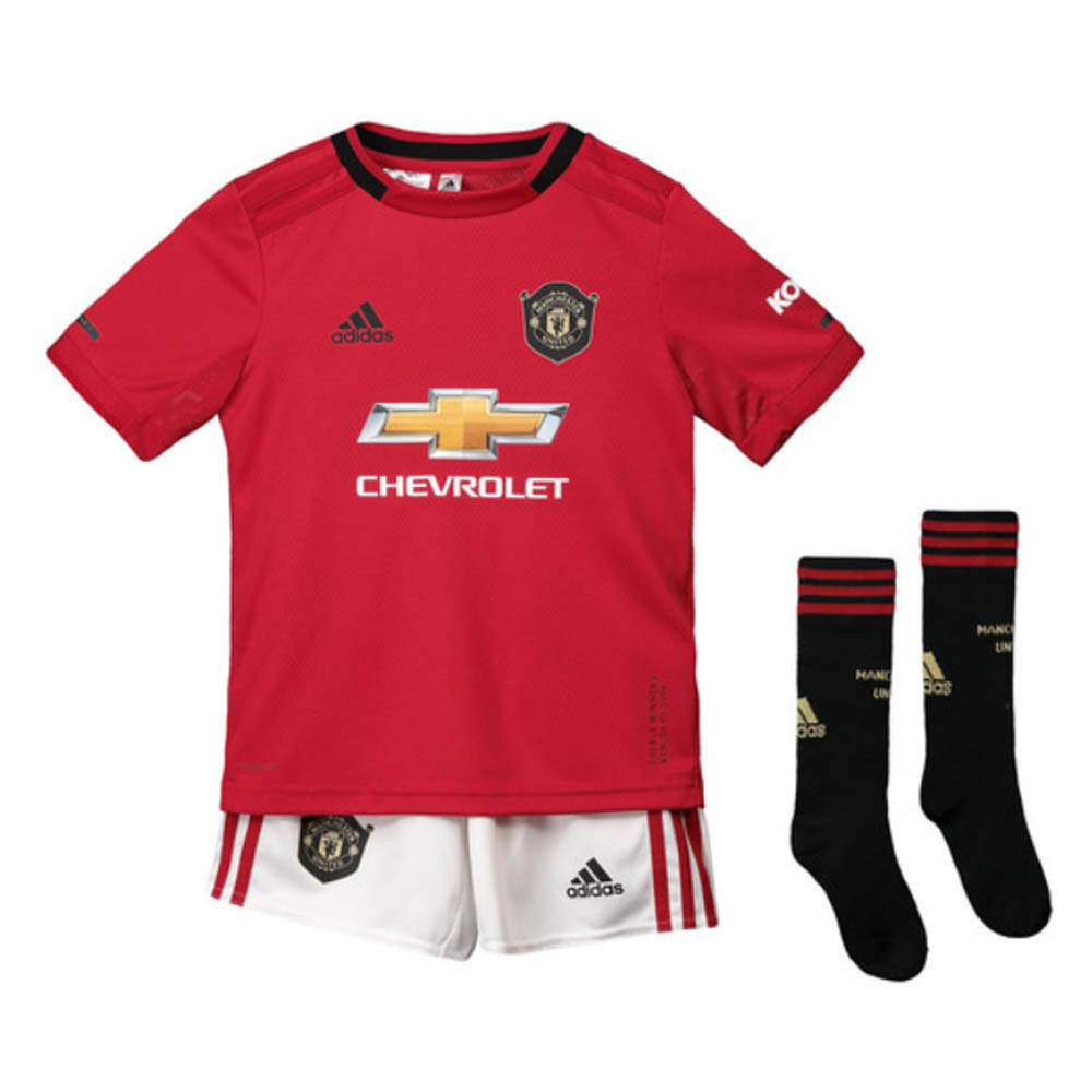 finest selection 6a4e8 9ac76 2019-2020 Man Utd Adidas Home Little Boys Mini Kit