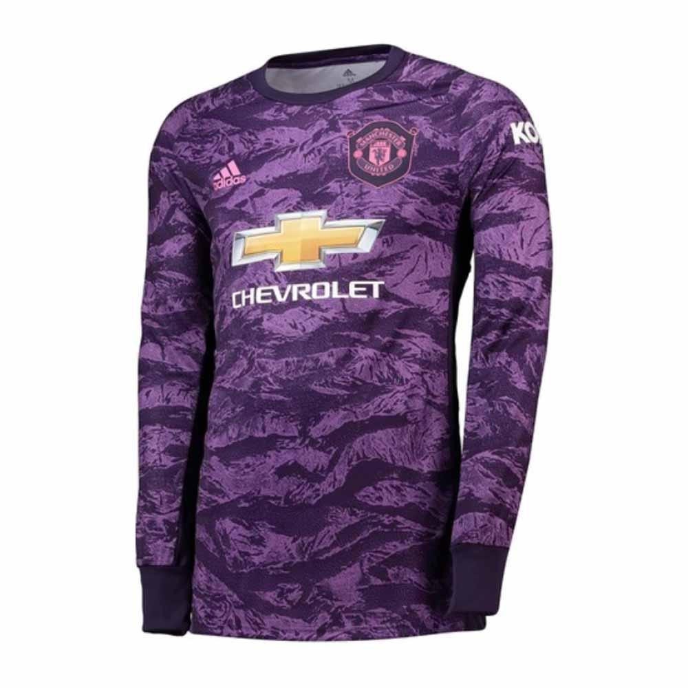 innovative design e4d0b f7f75 2019-2020 Man Utd Adidas Home Goalkeeper Shirt