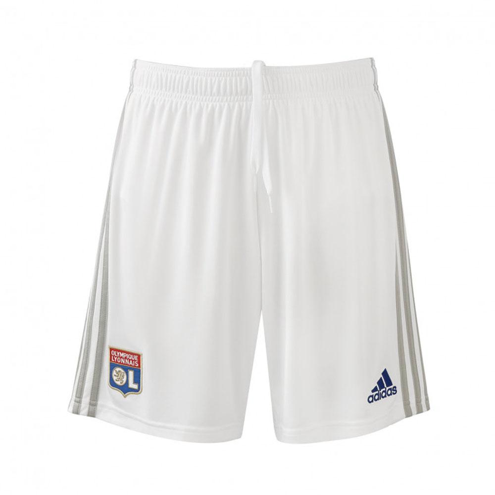 2019-2020 Olympique Lyon Adidas Home Shorts (White)