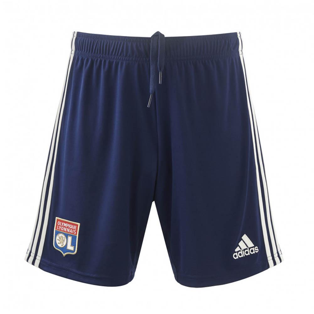 2019-2020 Olympique Lyon Adidas Away Shorts (Navy)