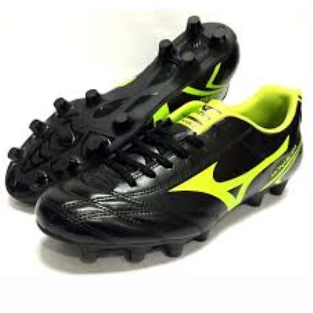 Mizuno Monarcida MD Men's Football Boot (Black-Lime)