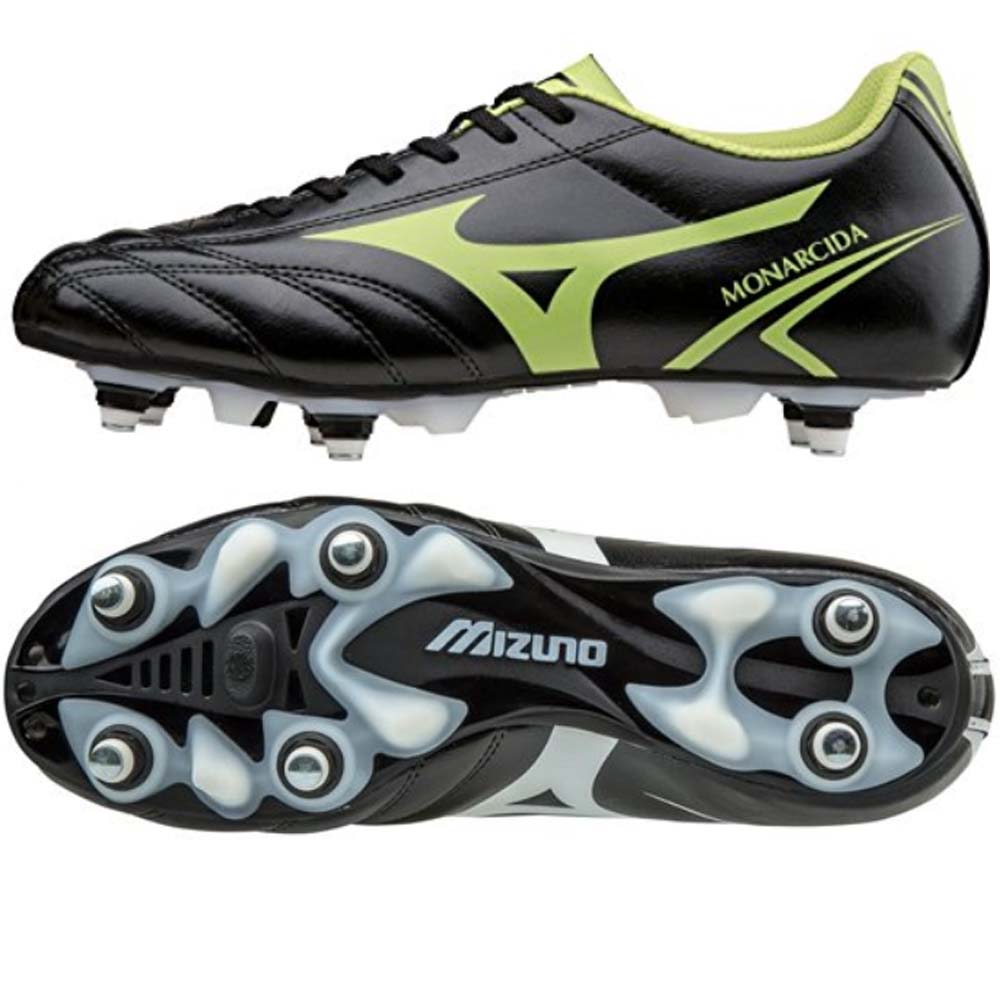 Mizuno Monarcida MIX Mens Football Boot (Black-Lime)