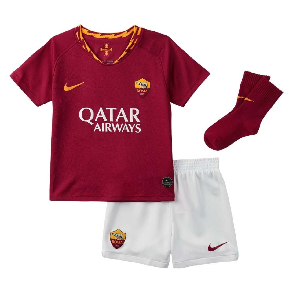 sneakers for cheap 1107c 1fa1d 2019-2020 AS Roma Home Nike Infants Kit