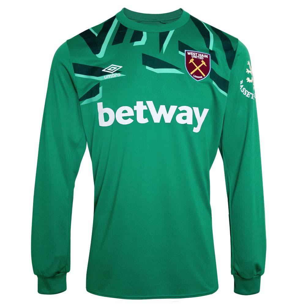 outlet store bfdd4 779cd Umbro West Ham United Mens LS Goalkeeper Home Shirt 2019/20