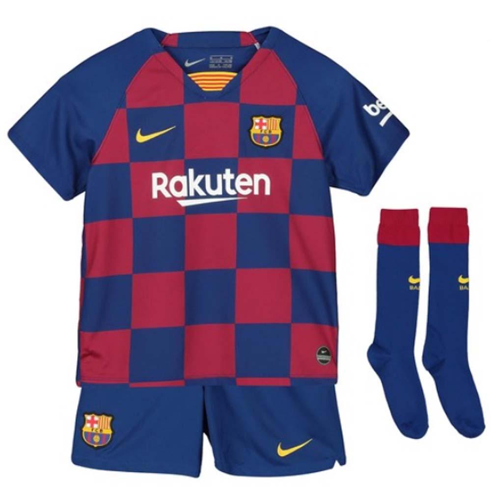 sports shoes b579b 3c7d2 2019-2020 Barcelona Home Nike Little Boys Mini Kit