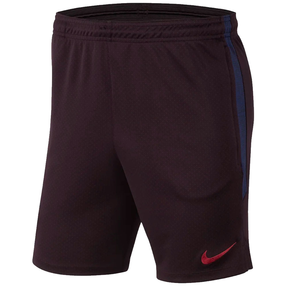 2019-2020 Barcelona Nike Squad Training Shorts (Burgundy)