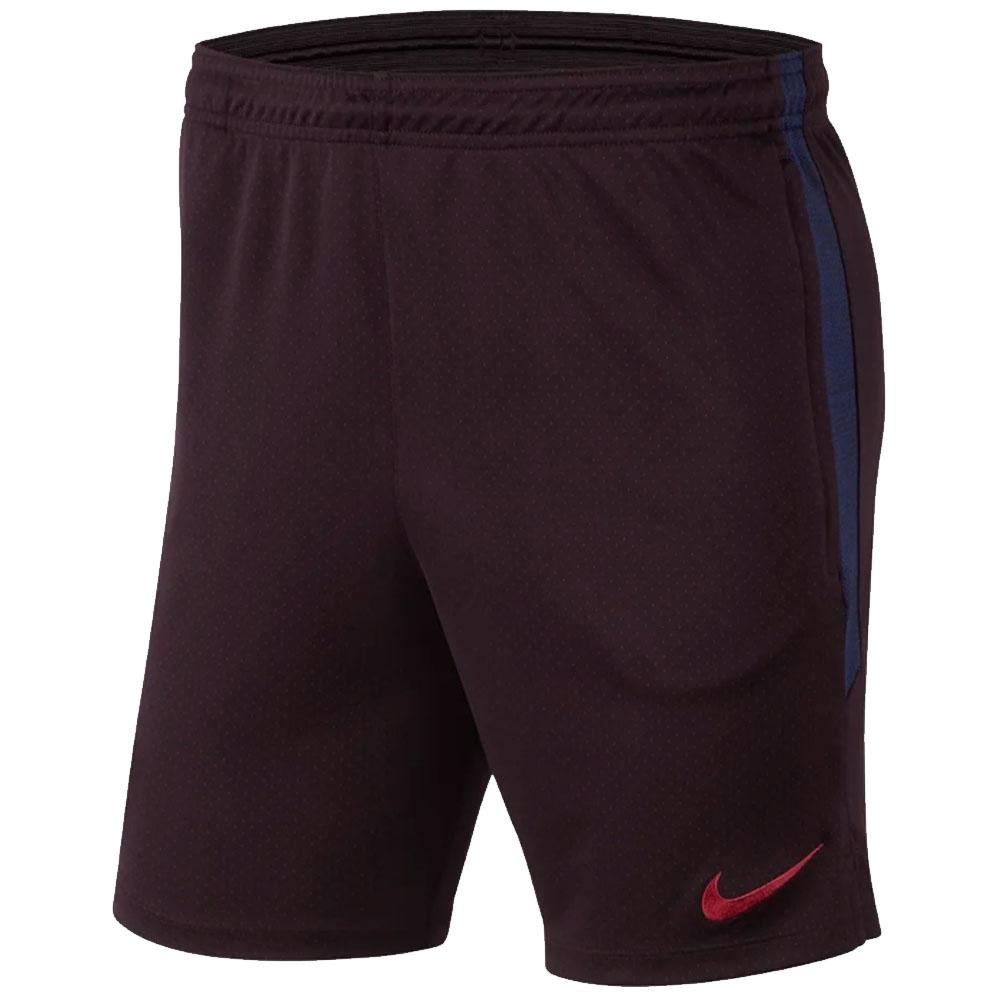 2019-2020 Barcelona Nike Squad Training Shorts (Burgundy)