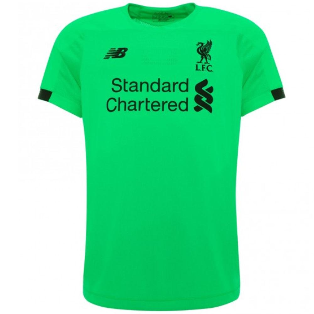 sports shoes 505b6 256b4 2019-2020 Liverpool Away Short Sleeve Goalkeeper Shirt (Green)