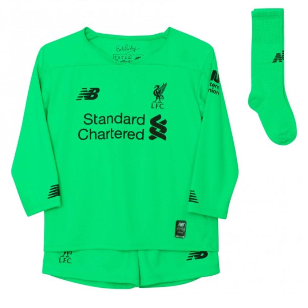 pretty nice 3a1ee 04c13 2019-2020 Liverpool Away Goalkeeper Mini Kit