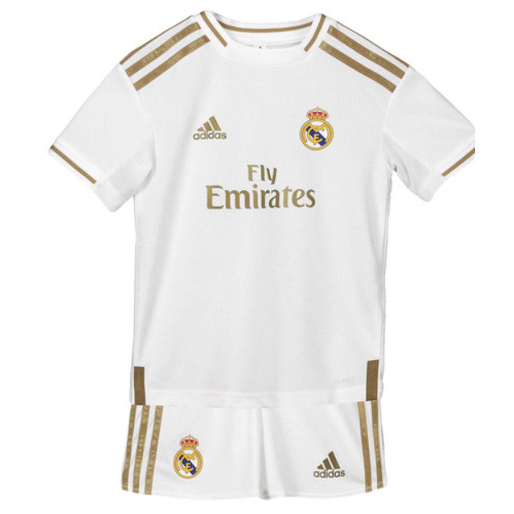 sports shoes 1c942 e8f41 2019-2020 Real Madrid Adidas Home Mini Kit