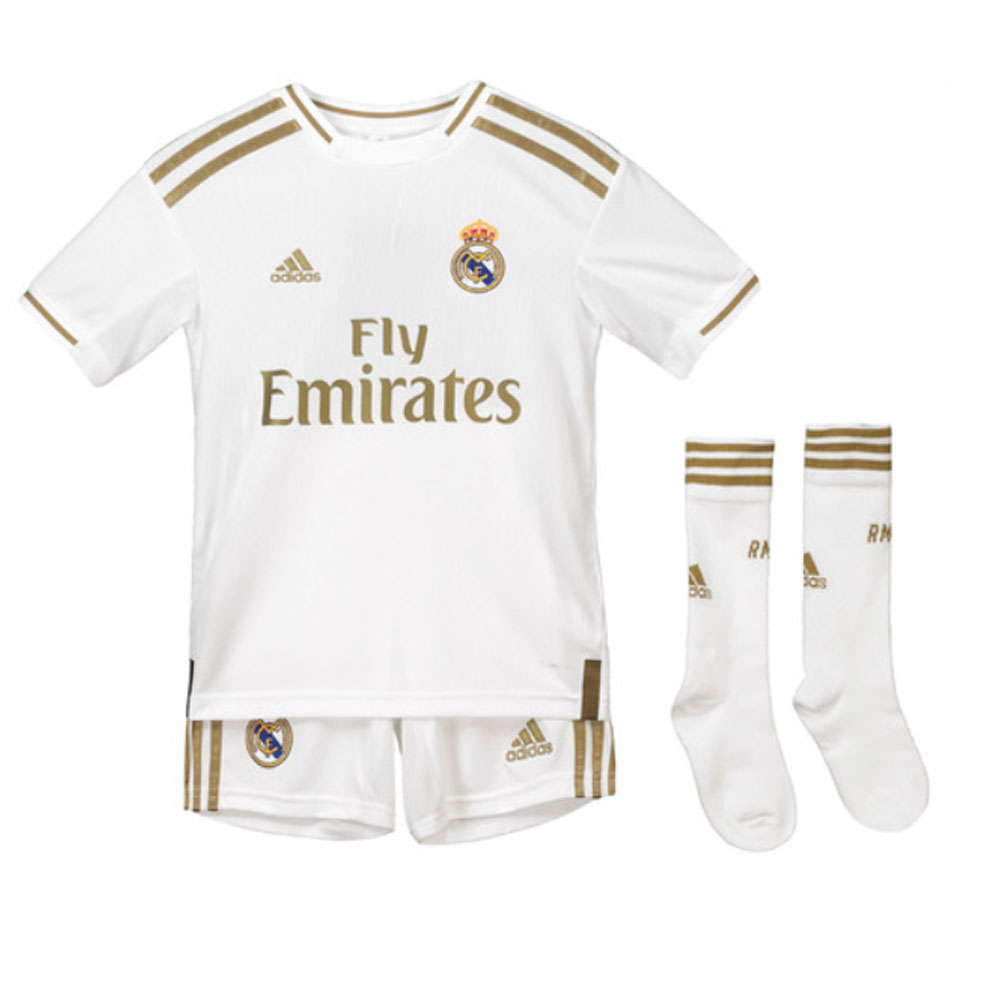check out fd2c8 11df9 2019-2020 Real Madrid Adidas Home Full Kit (Kids)