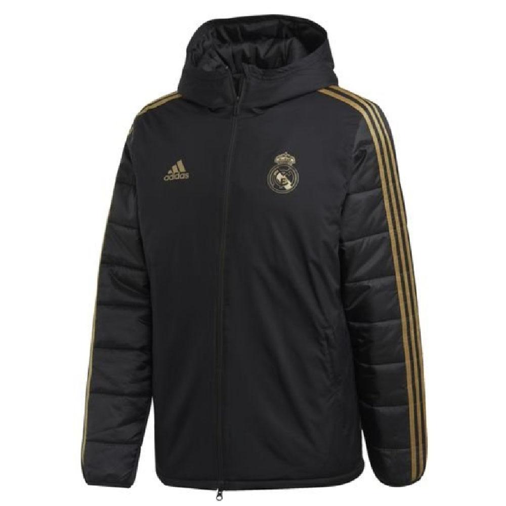 2019-2020 Real Madrid Adidas Winter Jacket (Black)
