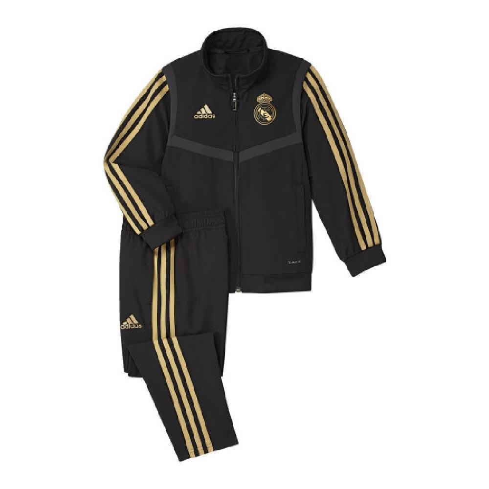 2019 2020 Real Madrid Adidas Mini Presentation Tracksuit (Black) Infants