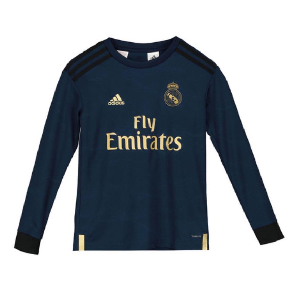 timeless design 22d7d 9b5f2 2019-2020 Real Madrid Adidas Away Long Sleeve Shirt (Kids)
