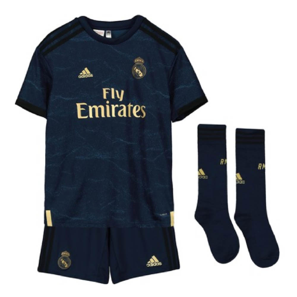 sale retailer d5111 d5da7 2019-2020 Real Madrid Adidas Away Full Kit (Kids)