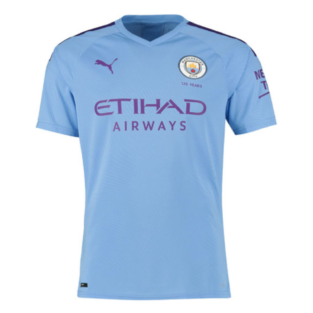 2019-2020 Manchester City Puma Home Authentic Football Shirt