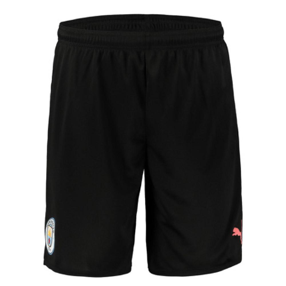 2019-2020 Manchester City Away Football Shorts (Black)