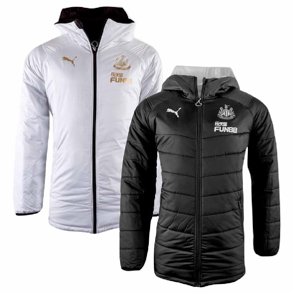 2019-2020 Newcastle Puma Reversible Bench Jacket (Black)