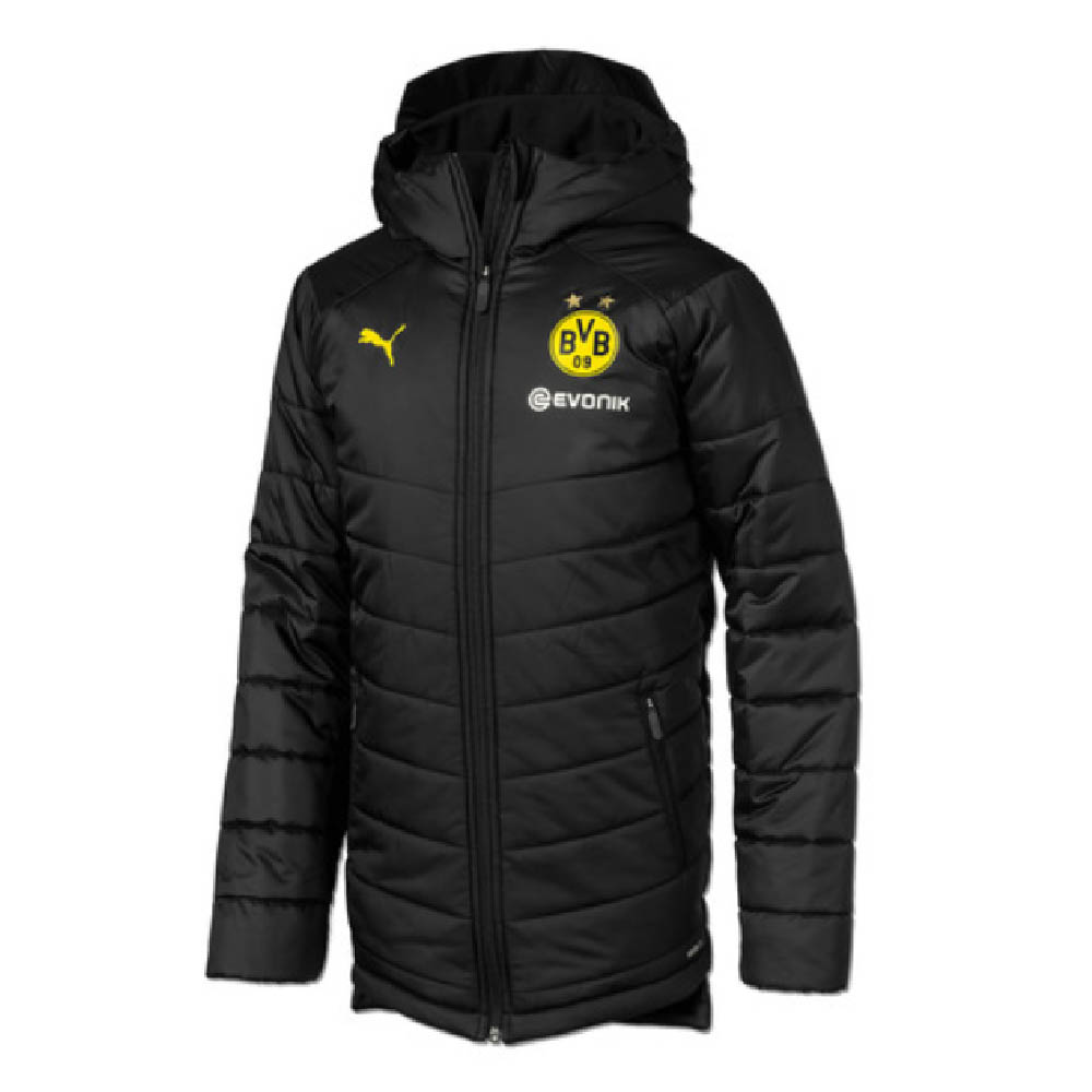 2019-2020 Borussia Dortmund Puma Reversible Bench Jacket (Black)