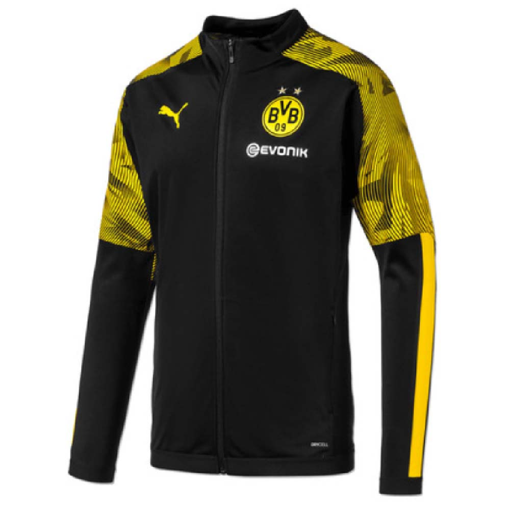 2019 2020 Borussia Dortmund Puma Poly Jacket Black 75577302 Uksoccershop