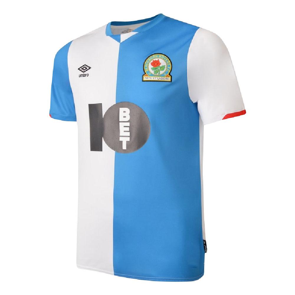 2019-2020 Blackburn Rovers Umbro Home Football Shirt