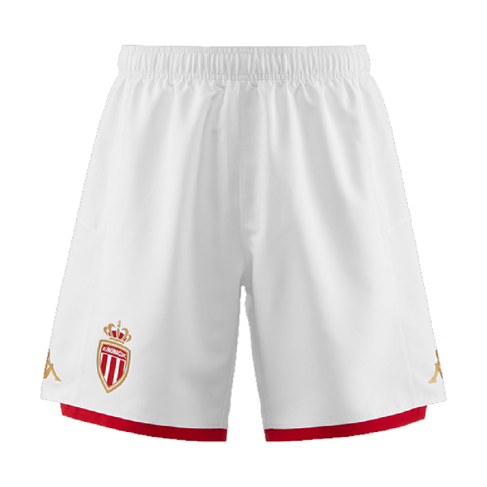 2019-2020 Monaco Kappa Home Shorts (White)
