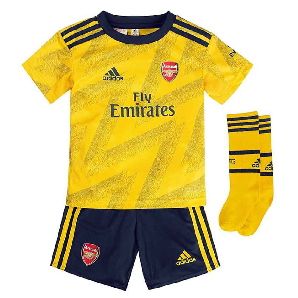 pick up 22b96 cec59 2019-2020 Arsenal Adidas Away Little Boys Mini Kit