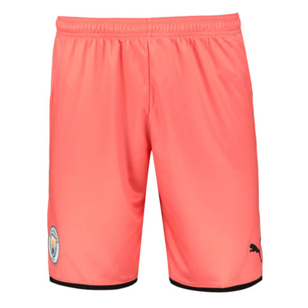 2019-2020 Manchester City Third Football Shorts (Peach)