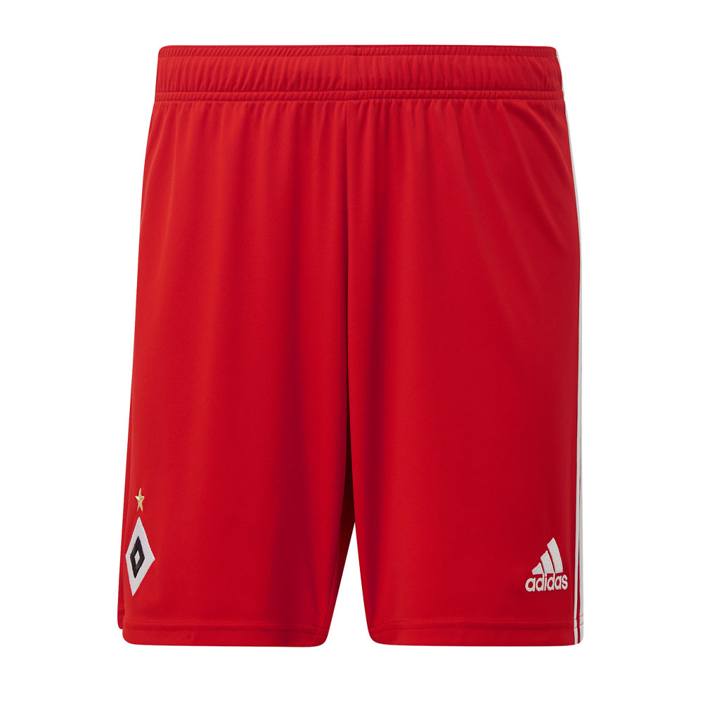 2019-2020 Hamburg Adidas Home Shorts (Red)