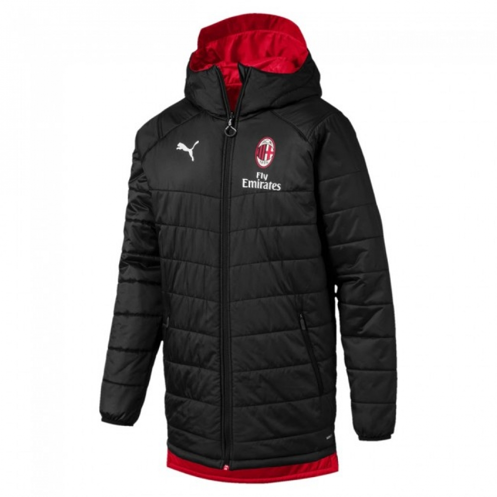 2019-2020 AC Milan Puma Reversible Bench Jacket (Black)