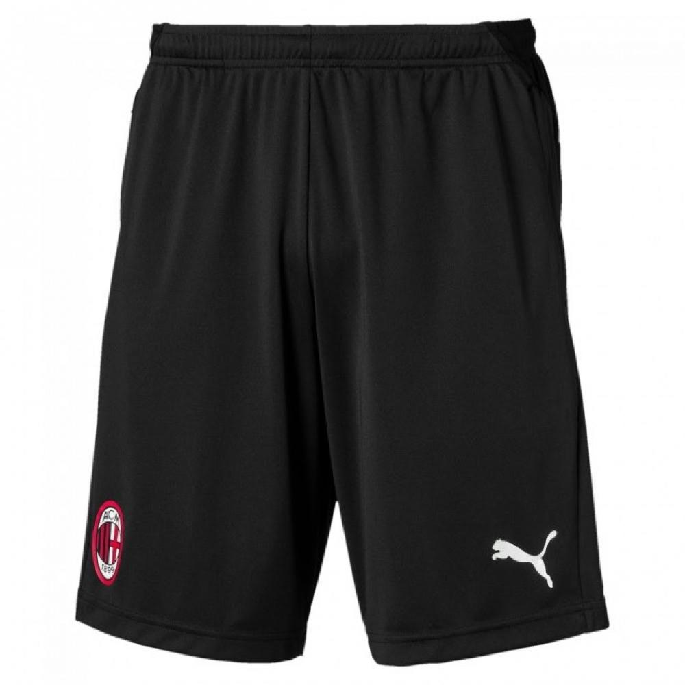2019-2020 AC Milan Puma Training Shorts with Zip (Black)