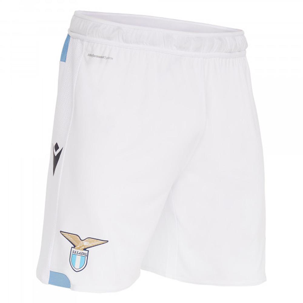 2019-2020 Lazio Macron Home Shorts (White)