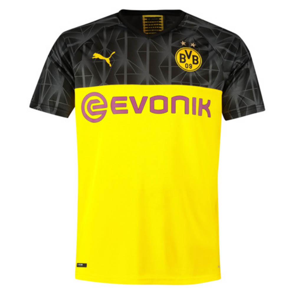 new product c4d57 d442b 2019-2020 Borussia Dortmund Puma UCL Home Football Shirt
