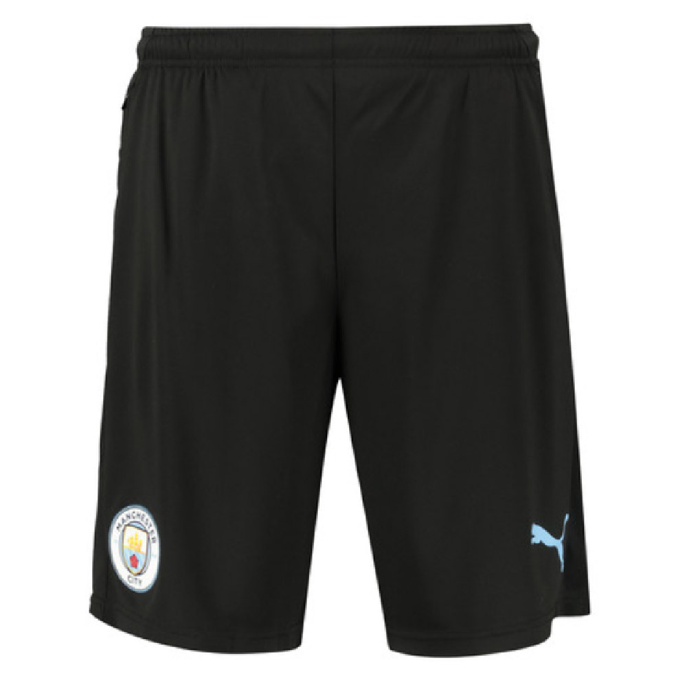 2019-2020 Manchester City Training Shorts with Zip Pockets (Black)