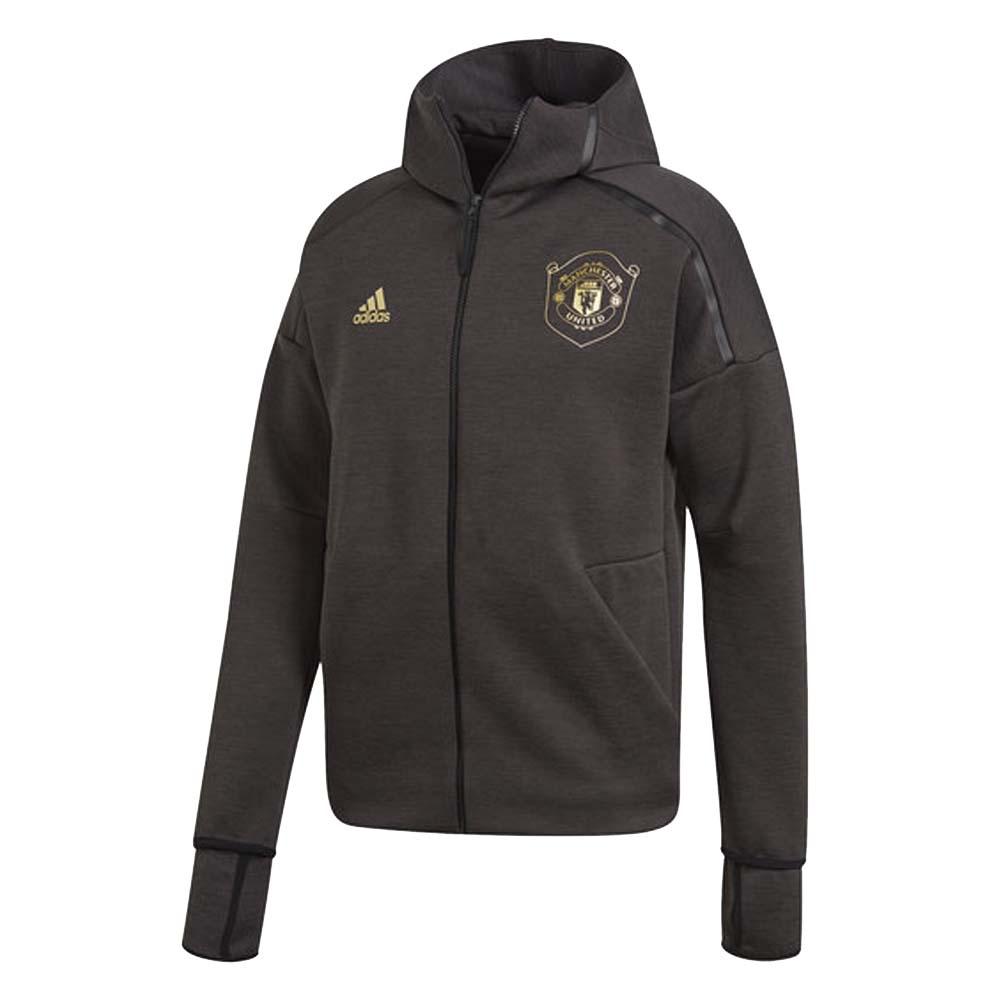 2019-2020 Man Utd Adidas Zne 3.0 Anthem Jacket (Black)
