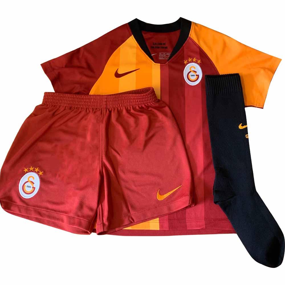 detailed look a0aea 199a2 2019-2020 Galatasaray Home Nike Little Boys Mini Kit