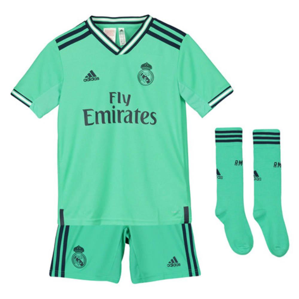 buy popular 7ca88 31a61 2019-2020 Real Madrid Adidas Third Full Kit (Kids)