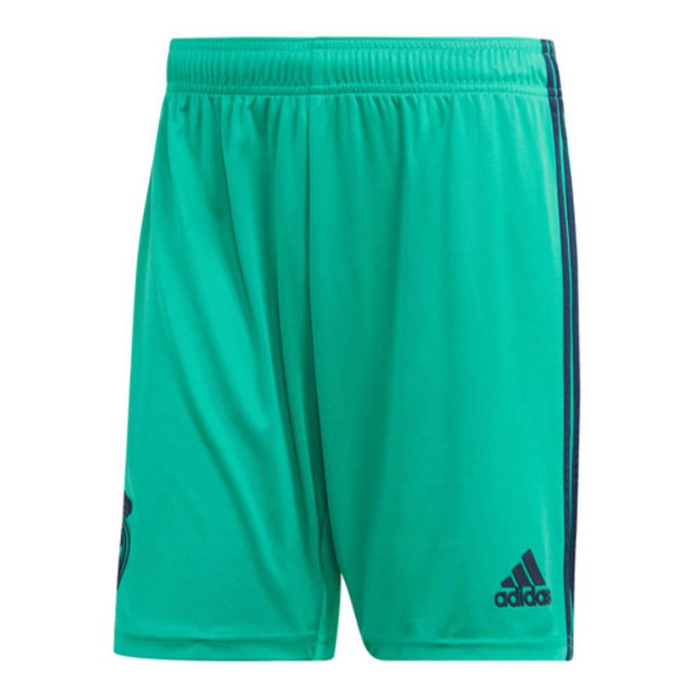 2019-2020 Real Madrid Adidas Third Shorts (Green) - Kids