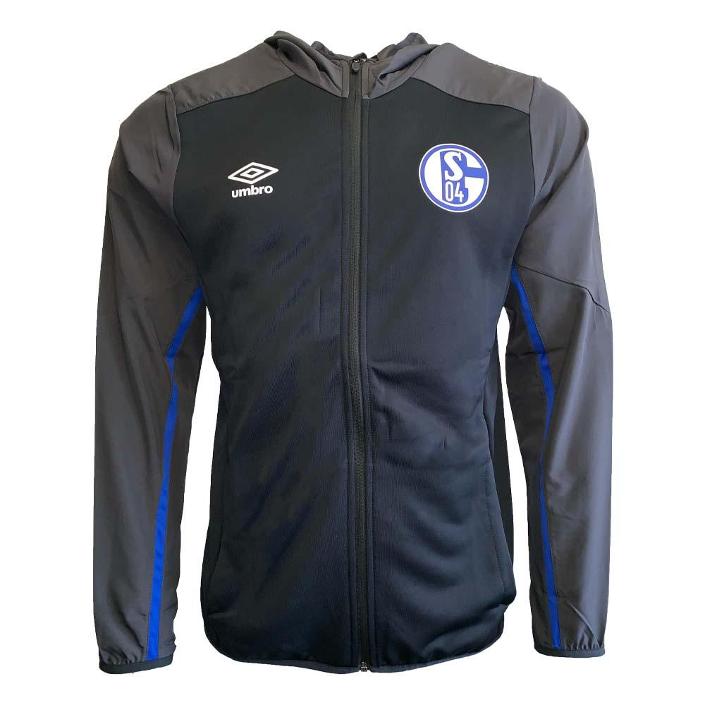 2019-2020 Schalke Umbro Hooded Jacket (Black)