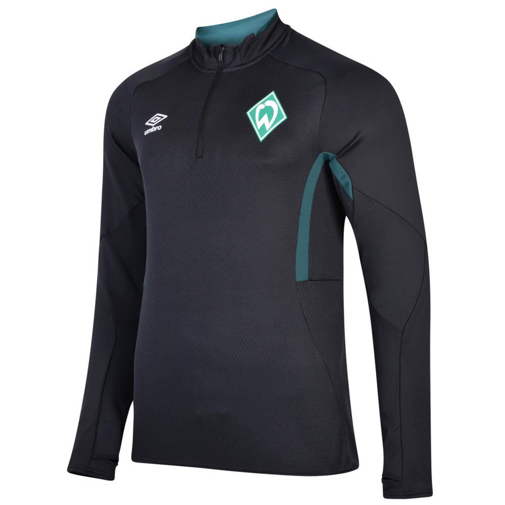 2019-2020 Werder Bremen Umbro Half Zip Training Top (Black)