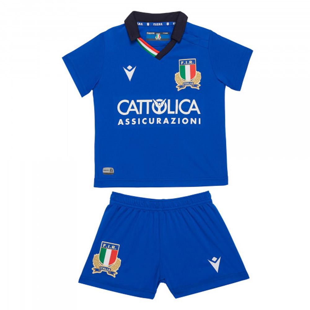 2019 2020 Italy Macron Home Rugby Mini Kit 58100107 Uksoccershop