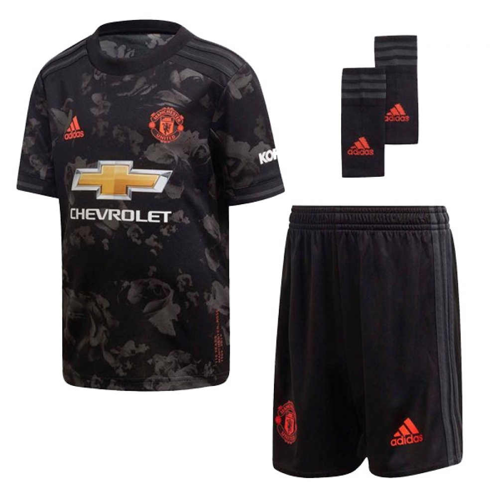 2019 2020 Man Utd Adidas Third Little Boys Mini Kit Dx8938 Uksoccershop