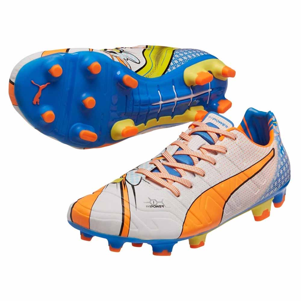Puma Evopower 1.2 Pop FG Football Boots (White)