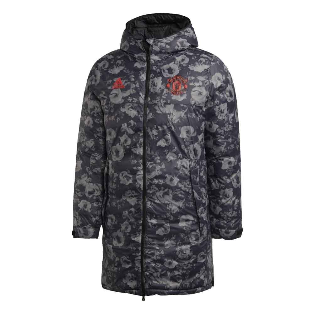 2019-2020 Man Utd Adidas Seasonal Special Long Coat (Black)