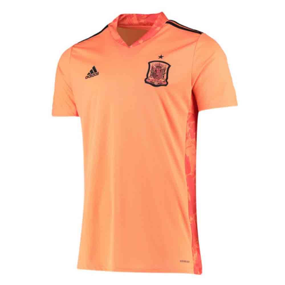 2020-2021 Spain Home Adidas Goalkeeper Shirt (Orange)